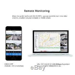 Système De Caméra De Vidéosurveillance De Moniteur 7 D'enregistrement Vidéo De Voiture De L'enregistrement Dvr 7 De Voiture De 1080n Ahd Hdd Gps Wifi 4g