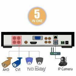 Système De Caméra De Vidéosurveillance Sansco Smart, Enregistreur 4 Canaux 1080n Dvr Avec 2x 1.3mp Hd Outdoo