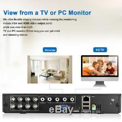 Système De Sécurité Extérieur Dvr De Maison De Télévision En Circuit Fermé D'enregistreur De Nvr De Vidéo De Réseau De 1080p Hd 8