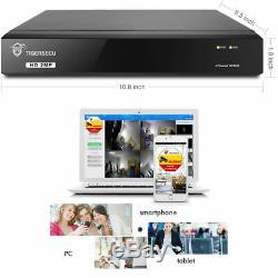 Tigersecu 1tb Full Hd 1080p 8 Ch Canal Dvr Cctv Enregistreur + 4x Système Caméras Hd