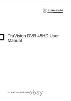 Truvision Dvr 45 Hd Rack Monter Enregistreur Cctv Professionnel Avec Disque Dur De 2 To