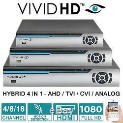 VIVID Hd Cctv Dvr 4ch 8ch 16ch Canal Ahd 1080p Enregistreur Vidéo Vga Hdmi Uk Wifi