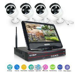 Wifi 10.1 4ch Cctv Sans Fil Enregistrement Dvr Caméra Wifi Nvr Système De Surveillance À Distance