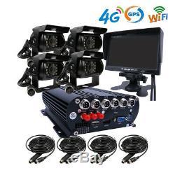 Wifi Gps 4g 1080p Ahd 2tb Hdd Car Mobile Dvr Mdvr Vidéo Enregistrer Un Moniteur Caméra Ir