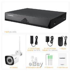 Wifi Sans Fil Caméra Cctv 8ch 1080p Dvr Enregistreur Ip Vision Sécurité Nuit Système