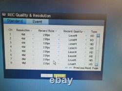 Wisenet Sumsung Security Cctv Enregistreur De Qualité Professionnelle Dvr 3 To Nouveau Disque Dur Inc