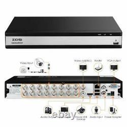 Zosi 16ch 1080p Dvr Video Surveillance Recorder Avec Disque Dur 2 To 4-en-1