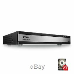 Zosi 16ch Dvr Enregistreur Hd 720p Pour Système De Caméra Cctv Accueil Sécurité De Lecture 2to