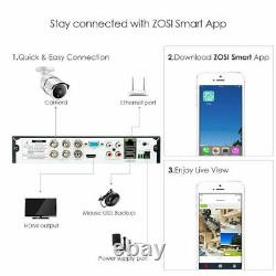 Zosi 4k Cctv System 8mp H. 265+ Dvr Recorder Outdoor Home Security Camera Kit Uhd