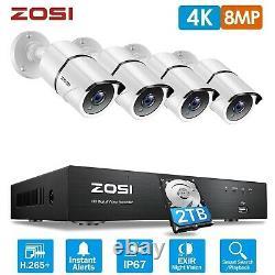 Zosi 4k Système Cctv 8mp Caméra Cctv Uhd Enregistreur De Sécurité Dvr Avec Disque Dur 2t