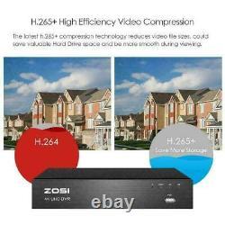 Zosi 8mp 5mp Dvr 8ch 4k Cctv System Ultra Hd Recorder Hdmi H. 265+ Home Security
