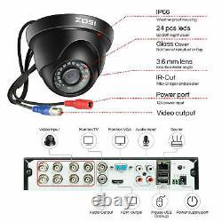 Zosi Cctv Cameras Full Hd 1080p 8ch Dvr Recorder 3000tvl Accueil Système De Sécurité Ir
