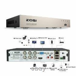 Zosi Full Hd 1080p Cctv Dvr Enregistreur Vidéo Hdmi Bnc 1tb De Lecture Détection De Mouvement