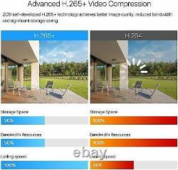 Zosi Smart Cctv Dvr 8 Canal 2to 1080p Enregistreur Vidéo Ahd Vga Hdmi Bnc H. 265+